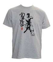 "T-Shirt HAYASHI ""Fighter"" Grigia"