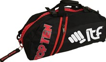 Borsa multifunzione zaino/tracolla TOP TEN SPORT BAG Zip Rossa Piccola ITF