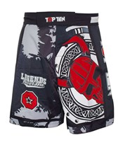 "Pantaloncini TOP TEN MMA ""Vikings"" Rosso"