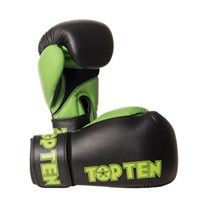 "Guantoni Kickboxing TOP TEN ""XLP"" Nero/Verde 10/12 oz"