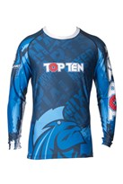 "Maglietta MMA TOP TEN Rash Guard ""Mohicans"" Manica Lunga"