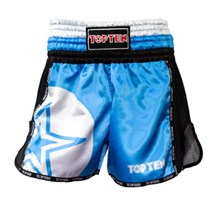 "Pantaloncini Kickboxing Thai TOP TEN ""STAR"" Blu"