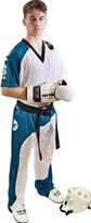 "Divisa Kickboxing TOP TEN ""Bow"" Bianco/Verde Acqua/Nero"
