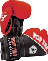 "Guantoni Boxe TOP TEN ""4 Select"" in Vera Pelle Rosso 10/12/14/16 oz"